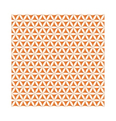 orange flower of life sacred geometric background vector image