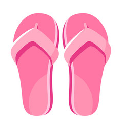 pink jandals flip flop icon female slim footwear vector image