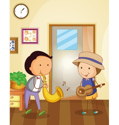 Playing music vector image
