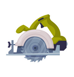 Powered circular saw with tough blade with hard vector