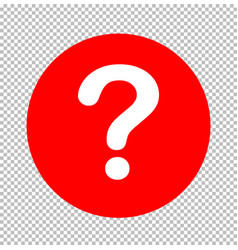 question mark icon sign transparent question mark vector image