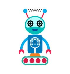 Robot cartoon character vector