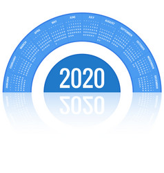 round calendar 2020 design print template your vector image