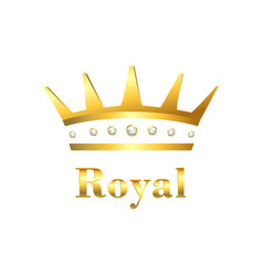 royal crown sign vector image