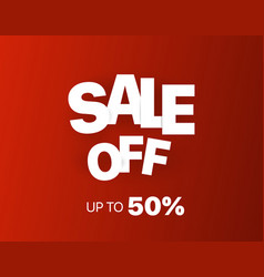sale banner template sale off up to 50 percent vector image