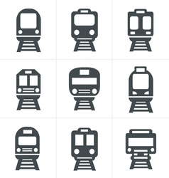 Set of transport icons - Train and Tram vector image vector image