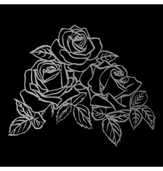 Silver Rose sketch vector