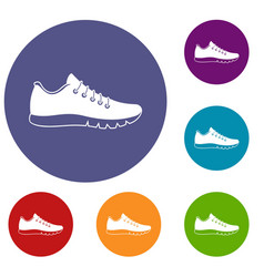 sneakers icons set vector image