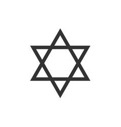 star david icon isolated jewish religion vector image