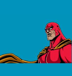 superhero portrait red vector image