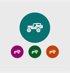 suv icon simple vector image