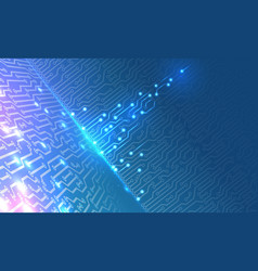 Technology background with glowing elements vector