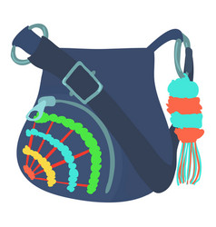 Teenage school backpack icon cartoon style vector