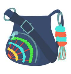 teenage school backpack icon cartoon style vector image