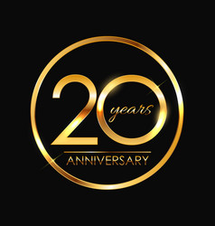 Template 20 years anniversary vector