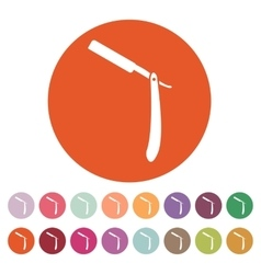 The razor icon Shaver symbol Flat vector image