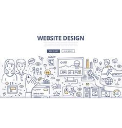 Web Design Doodle Concept vector