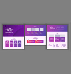 Website template page business technology vector