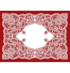 Wedding lace ornament vector
