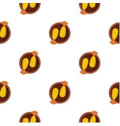 asian food pattern seamless vector image vector image
