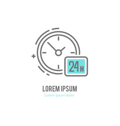 line watch logo vector image