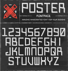 Retro Poster Font vector image vector image