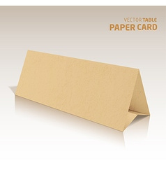 3d table papercraft card isolated on a grey vector image vector image