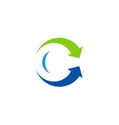arrow process circle logo vector image