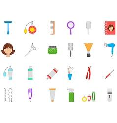 Barbershop icons set vector image vector image