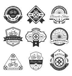 Bicycle labels vector image