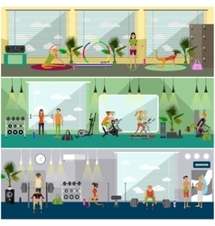 Fitness center interior vector image vector image