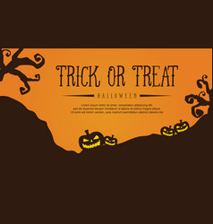 halloween style greeting card vector image