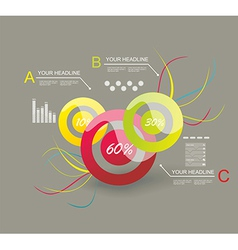 Infographic Elements IT Industry Design vector image vector image