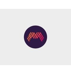 Letter M logo icon design Creative line vector image vector image