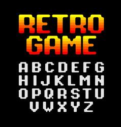 retro pixel video game font vector image vector image