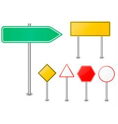 road sign set traffic blank sign vector image vector image