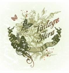 vintage flora vector image vector image
