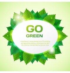 Abstract go green with leafs vector image vector image