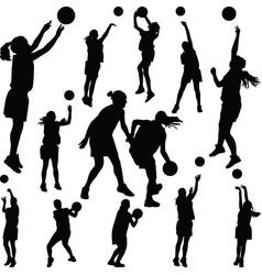 Basketball woman player vector