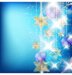 Beautiful blue christmas background vector image
