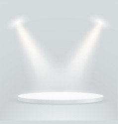 bright stage with projectors layout vector image vector image