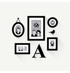 family frame collage vector image vector image