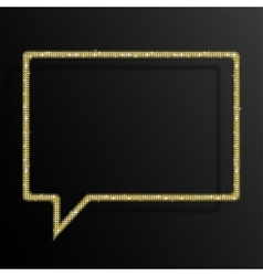 Frame Gold Sequins Speech Bubble Sparkle Stars vector image vector image
