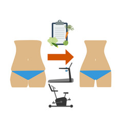 health and beautiful body vector image