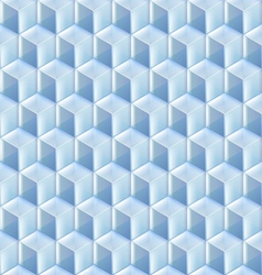 Seamless from blue glass cubes vector image