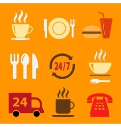 Set of icons with food vector image vector image