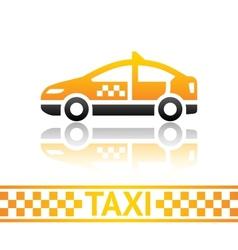 Taxi cab icon vector image