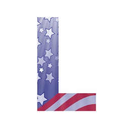 american letter L vector image