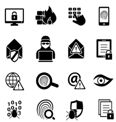 Cyber security icons vector