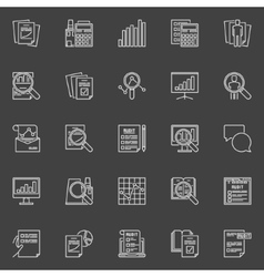 Financial audit line icons vector image vector image